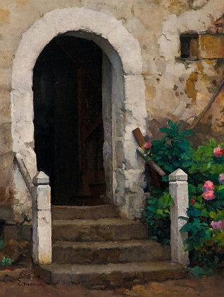 CHARLES PERRON | La Porte aux hortensias