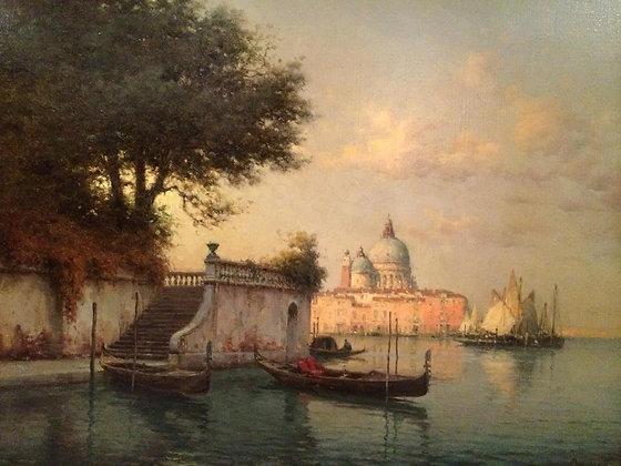 AUGUSTE BOUVARD | Evening Light, Santa Maria Della Salute