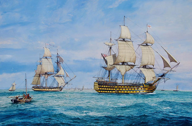 RONNY MOORTGAT | May Victory be Ours / HMS Victory Leaving Portsmouth