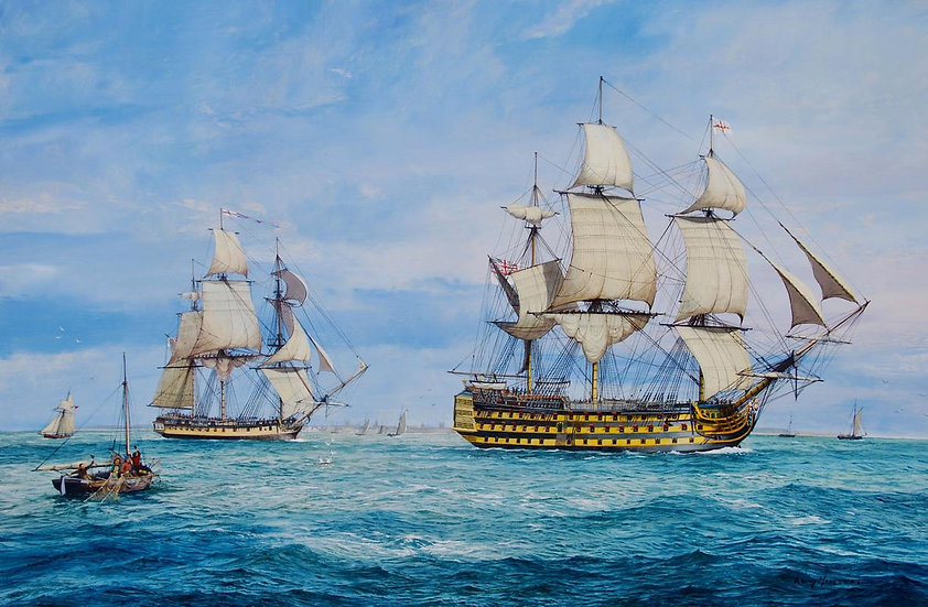 May Victory be Ours / HMS Victory Leaving Portsmouth