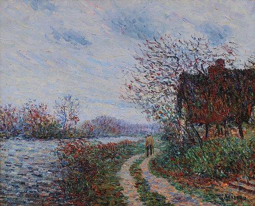 GUSTAVE LOISEAU | Le Chemin en Bord de Rivière, Painted circa 1899-1900