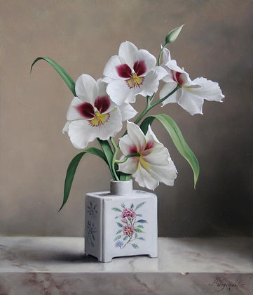 PIETER WAGEMANS | Miltonia in a Tea Jar