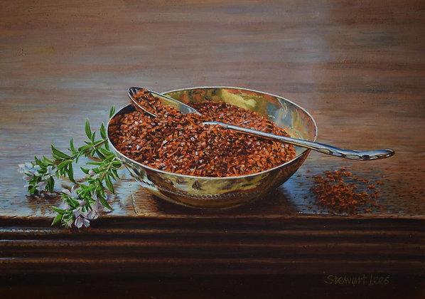 STEWART LEES | Cayenne Pepper in a Brass Bowl