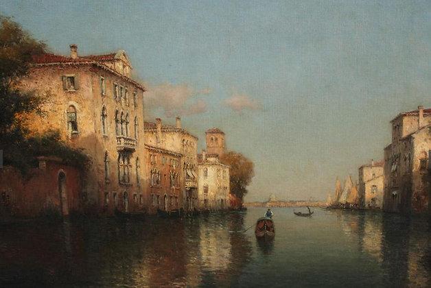 AUGUSTE BOUVARD | Venetian Canal Scene