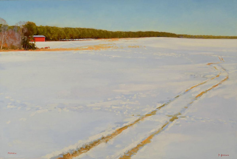 Snow and Sun, the Red Barn