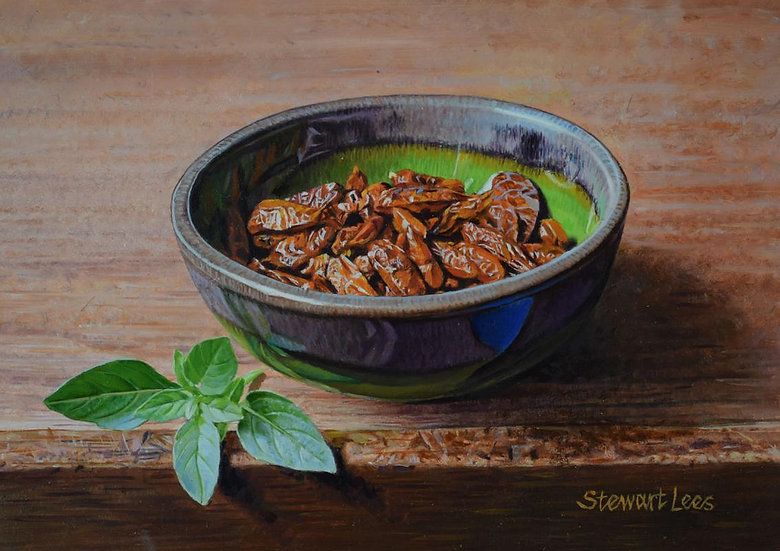 Dried Chillies in a Bowl