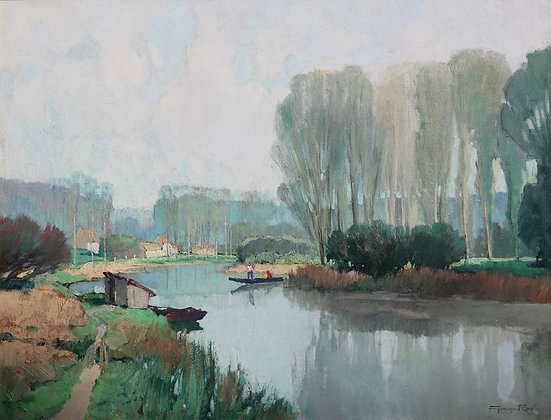 GEORGES CHARLES ROBIN | Bords de L'Yonne, Printemps