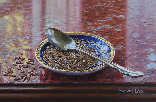 STEWART LEES | Cumin Seeds on a Marble Surface