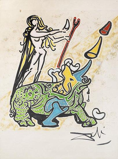La Vierge et le Rhinoceros (executed circa 1973)