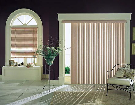 Vertical Blinds for Home Glass Doors in Vallejo & Napa, California (CA) in Living Rooms