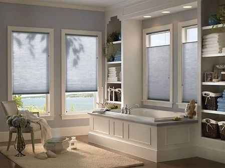 Cellular Shades for Home Windows in Vallejo, California (CA) for Bathrooms Available with Cordless Options