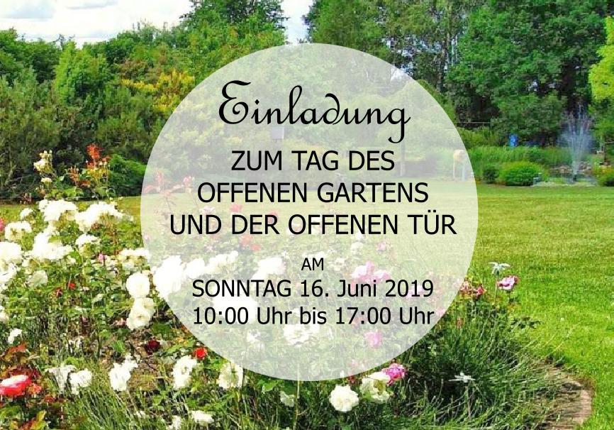 MartinsHof: 16.06.2019 in der Zeit von 10:00 Uhr bis 17:00 Uhr Tag des offenen Garten und der offenen Tür.