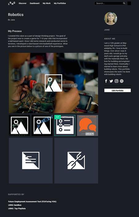 Portfolio Screenshot