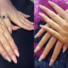 A couple of pretty sets.... #pinknails #