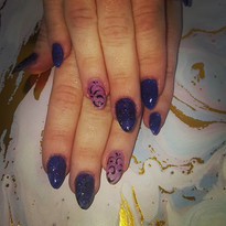 Purple n pink  shellac #shellacnails #gl