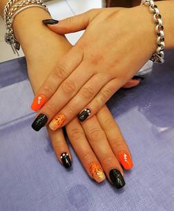 Orange inspired #nailartdesign #nailappo