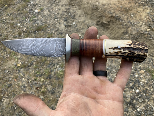 Stacked Leather & Red Stag