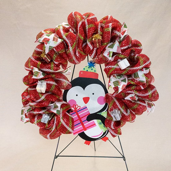 Penguin Wreath - Christmas