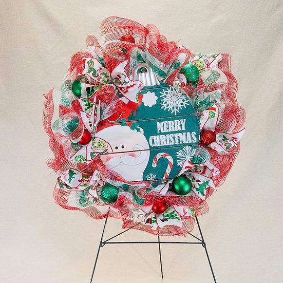 Merry Christmas - Whimsical Wreath