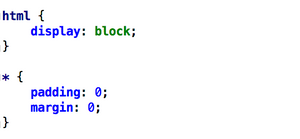 css to display html