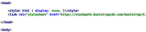 css style to hide html