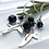 Thumbnail: Ivy leaf and Berry Silver Drop Earrings F&W