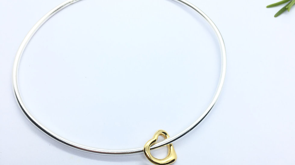 Stacking Bangle Gold Heart