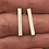 Thumbnail: Long Stick Rectangular Simple Silver Stud Earrings  £15