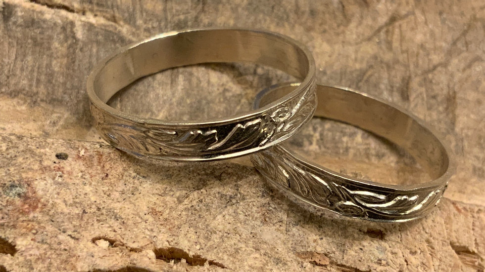 Traditionally patterned Silver Ring