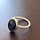 Thumbnail: Ring size  P/Qpinky coloured diachronic glass sterling silver. Portrait