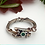 Thumbnail: Emerald Oxidised Silver Twig Ring Silver (pre-order)