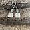 Thumbnail: Moonstone Gazing Hare Long Drop  Silver Earrings