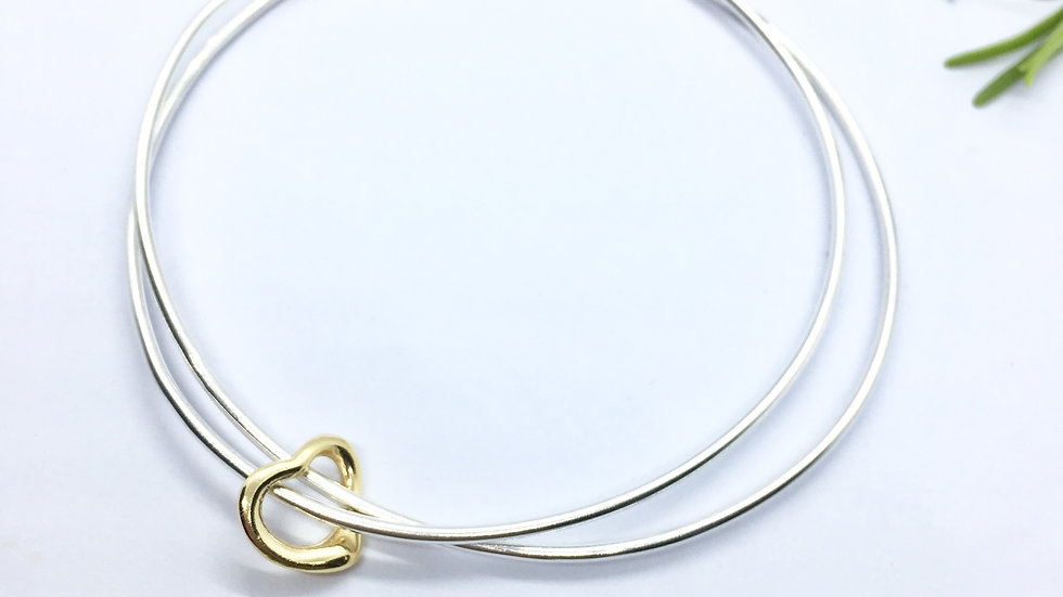 Stacking Bangles Gold Heart