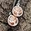 Thumbnail: Earrings Moon Star Tree Long Drop Mis-Matched Silver Copper Earrings