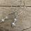 Thumbnail: Pearl Silver long Drop Earrings F&W