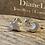 Thumbnail: Stud Earrings Silver Moon Star Stud  Earrings.