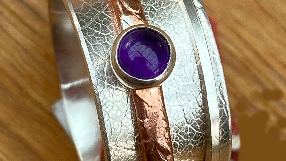 Amethyst 'Shepherdess'  Spinning Ring Size P