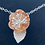 Thumbnail: Necklace Bobbly Flower Pendant.  Copper Silver Flower Series F&W
