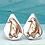 Thumbnail: Creature Stud Earrings.  Penguins  Cats  Ladybirds  Piggy