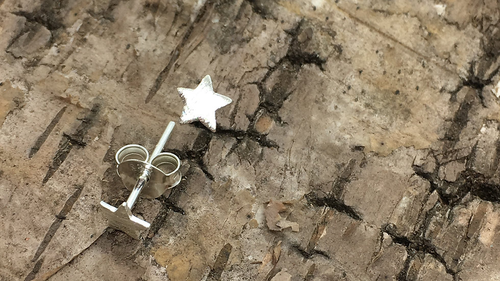 Silver Star Stud Earrings