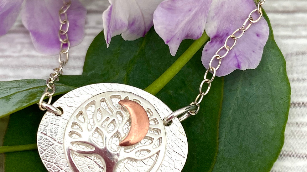 Moon Star Tree of Life Necklace © (F+W)