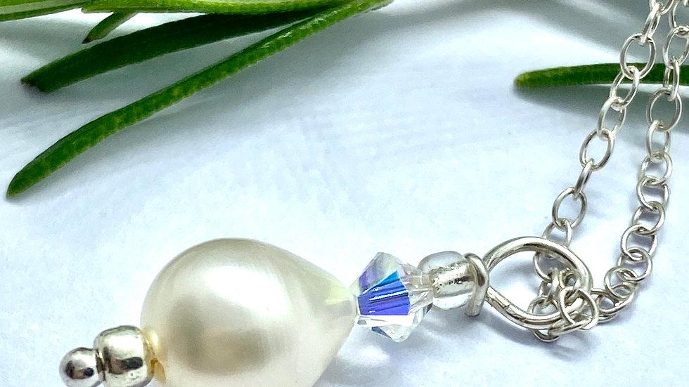 Pearl Drop crystal Pendant © (W & F )