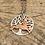 Thumbnail: Small Running Hare; Tree of Life Pendant ©