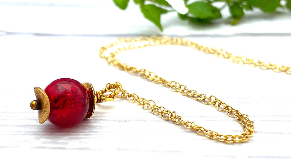 Red Gold Simple Drop Pendant © (W)