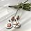 Thumbnail: Earrings Seashore Long Drop Mis-Matched Silver Copper Earrings F&W