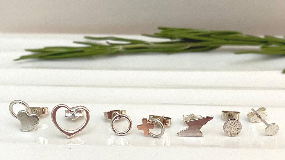 Simple Silver Stud Earrings from £12 (choose a pair)