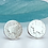 Thumbnail: Sheep Stud Earrings  Sterling Silver Stud Post Earrings.