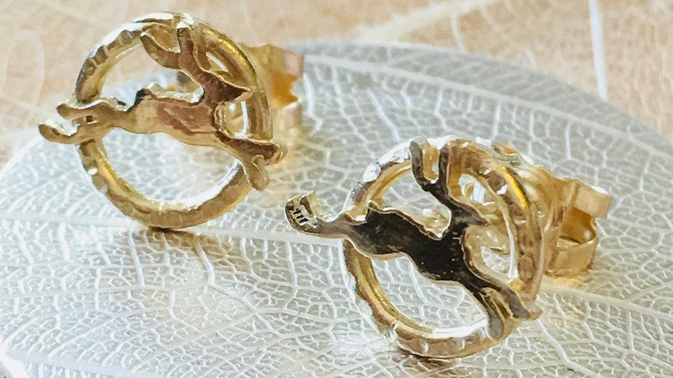 The Golden Hare Earrings c