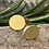 Thumbnail: Brushed Gold Stud Earrings  Gold plated Silver Stud  Earrings. W&F