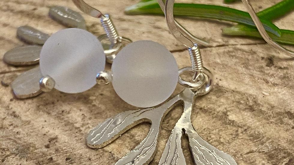 Mistletoe Silver Drop Earrings   OUT of Stock F&W